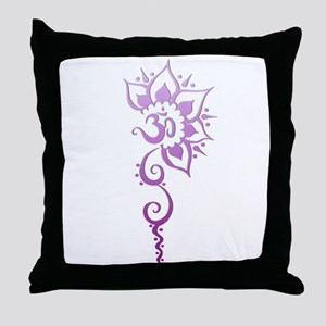Rising Om - Purple Fade Throw Pillow